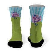 Running Printed Mid Calf Socks Once Upon A Run