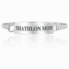 Triathlon Engraved Clasp Bracelet - Mom (Text)