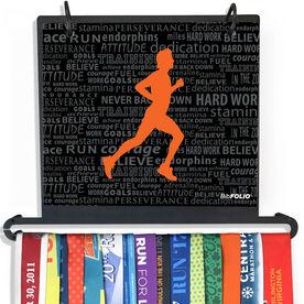 BibFOLIO Plus Race Bib and Medal Display Running Inspiration - Male
