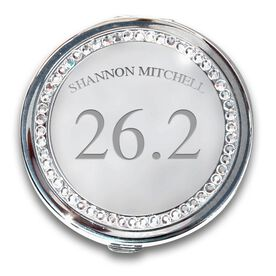 Silver Personalized 26.2 Compact Mirror