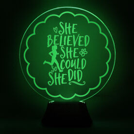 Running Acrylic LED Lamp She Believed She Could So She Did