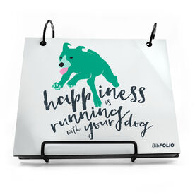 BibFOLIO® Race Bib Album - Happiness Is Running With Your Dog