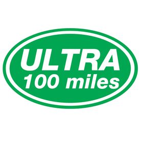 ULTRA 100 Miles Oval Running Vinyl Decal