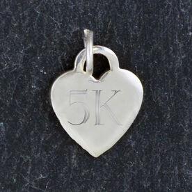 Sterling Silver 13 mm Heart Charm 5K