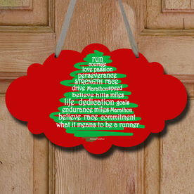 Runner Christmas Tree Decorative Cloud Sign