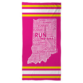 Running Beach Towel Indiana State Runner