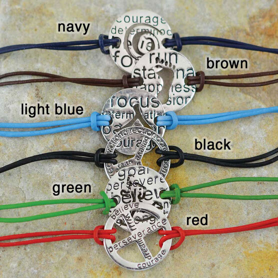 It's All About the Journey Mantra Cord Bracelet