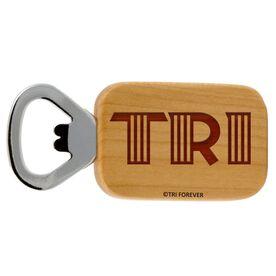 TRI Letters Maple Bottle Opener