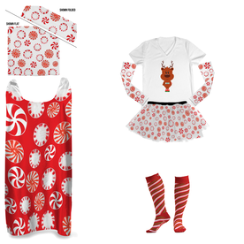Peppermint Candy Running Outfit