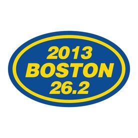 2013 Boston 26.2 Oval Running Vinyl Decal - Straight Text