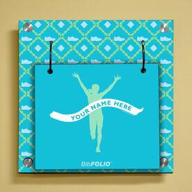 Personalized Female Runner Wall BibFOLIO® Display