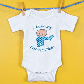 Baby One-Piece I Love My Runner Mom