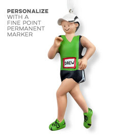 Runner Resin Figure Ornament - Male with Hat (Neon)