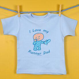Baby T-shirt I Love My Runner Dad