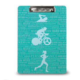 Triathlon Custom Clipboard Tri Inspiration Female