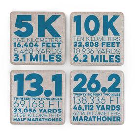Running Stone Coaster Set of 4 - Race Distance