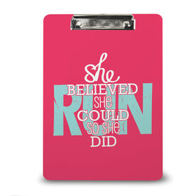 Running Custom Clipboard She Believed She Could