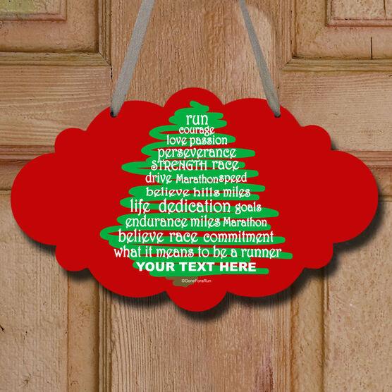 Runner Christmas Tree Decorative Cloud Sign