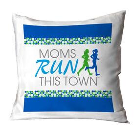 Running Throw Pillow - Moms Run This Town