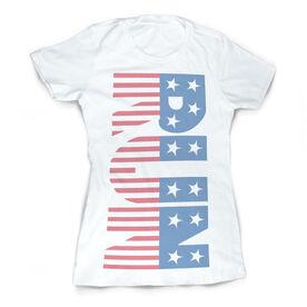 Vintage Running Fitted T-Shirt - Run Patriotic