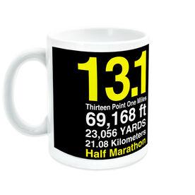 Running Ceramic Mug Half Marathon  13.1 Math Miles