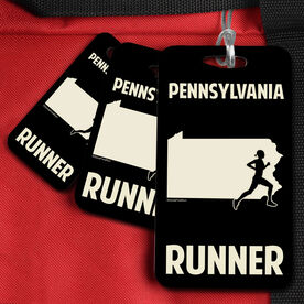 Bag/Luggage Tag Pennsylvania State Runner Female