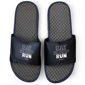 Running Navy Slide Sandals - Eat Sleep Run Repeat