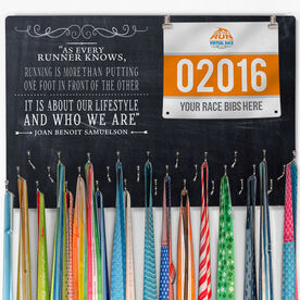 Hooked On Medals Bib & Medal Display Chalkboard As Every Runner Knows