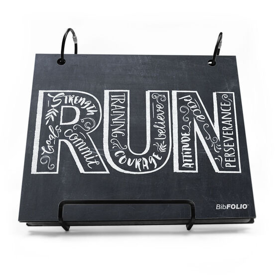 BibFOLIO® Race Bib Album - Inspire to RUN Chalkboard