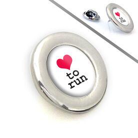 Lapel Pin Heart To Run