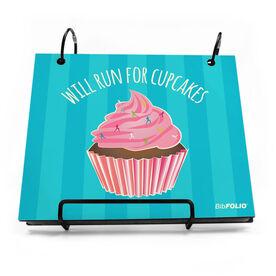 BibFOLIO® Race Bib Album - Will Run For Cupcakes