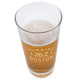 Running Boston Sign 20oz Beer Pint Glass