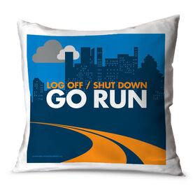 Running Throw Pillow Go Run