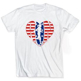 Short Sleeve Runners Tee - Moms Run This Town Patriotic Heart