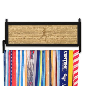 RunnersWALL Engraved Bamboo Medal Display Inspiration Runner Male