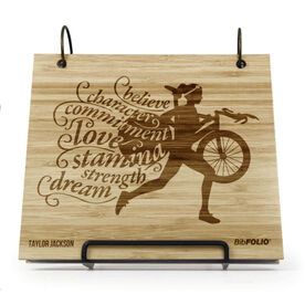 Engraved Bamboo Wood BibFOLIO Words to Tri By