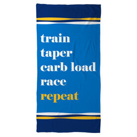 Running Beach Towel - Repeat Mantra
