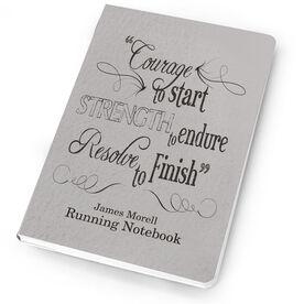 Running Notebook Vintage Courage To Start