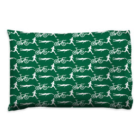 Triathlon Pillowcase - Guy Pattern