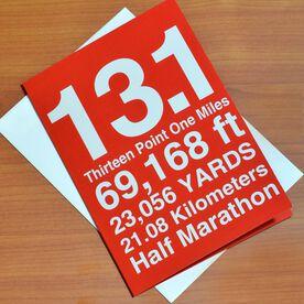 13.1 Half Marathon You Did It Greeting Card