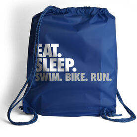 Triathlon Sport Pack Cinch Sack Eat. Sleep. Swim. Bike. Run.