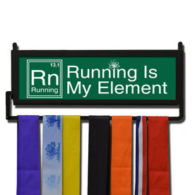 RunnersWALL Running Is My Element 13.1 Medal Display