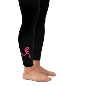 Running Leggings Stick Figure Runner Girl
