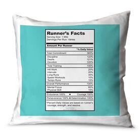 Running Throw Pillow Runner's Facts
