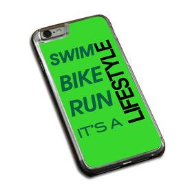 Triathlon iPhone® Case Swim Bike Run It's A Lifestyle