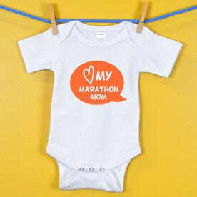Baby One-Piece Love My Marathon Mom