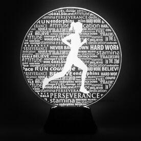 Running Acrylic LED Lamp Female Inspirational Words