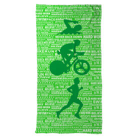 Triathlon Beach Towel Swim Bike Run Inspiration Male