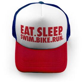 Triathlon Trucker Hat - Eat Sleep Swim Bike Run
