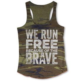 Running Camouflage Racerback Tank Top - Women's Running Camouflage Tank Top -  We Run Free